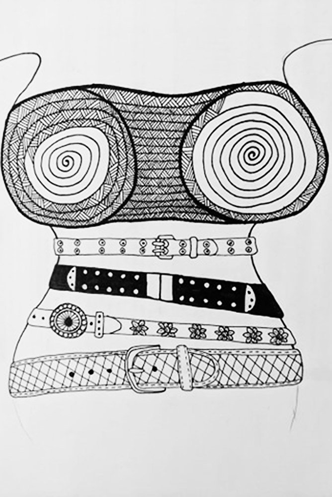Belt Zentangle Pattern