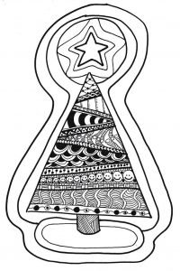 Christmas Tree Zentangle Tutorial